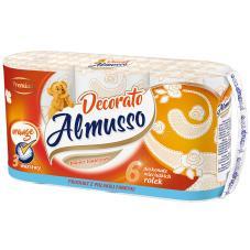 Papier Almusso 6 sztuk pomarańczowy