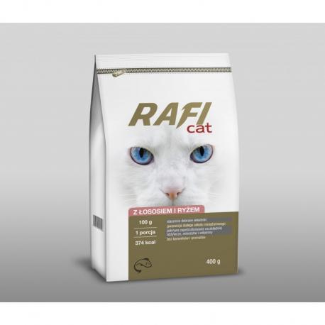 Karma sucha RAFI CAT z łososiem i ryżem 400 g
