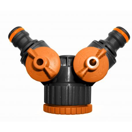 """ECO-PWB2222 Trójnik z dwoma zaworami GW 1"""" / 3/4"""""""