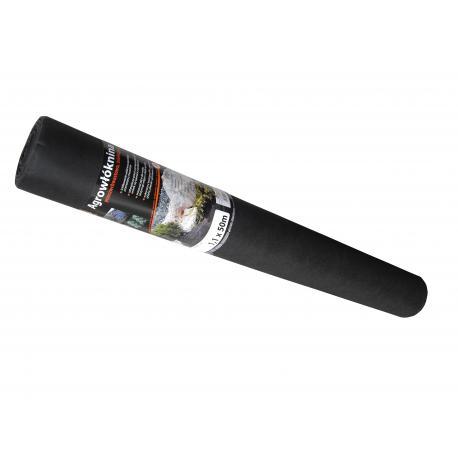 AWB5011050 Agrowłóknina 50 czarna, 1,1m x 50m